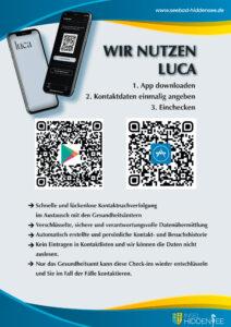 Wir nutzen Luca - Plakat