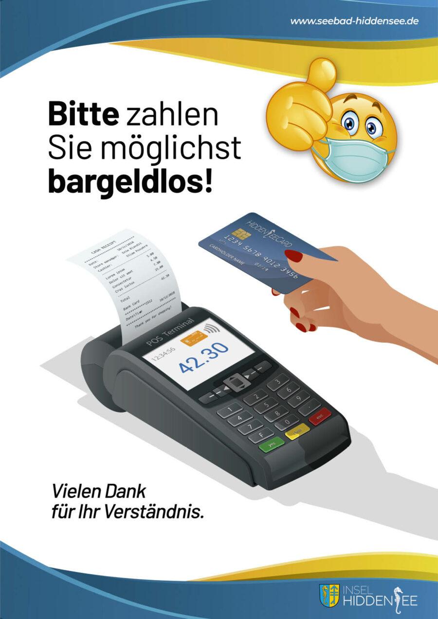 Bitte bargeldlos zahlen