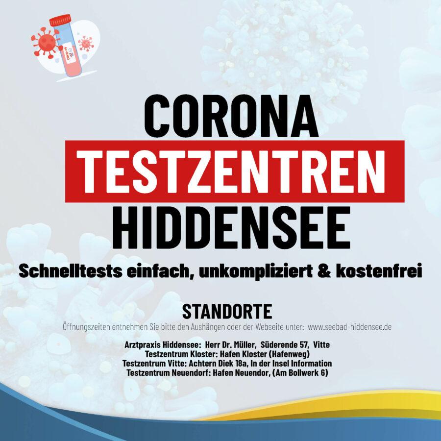 Testzentren Hiddensee - Informationsflyer