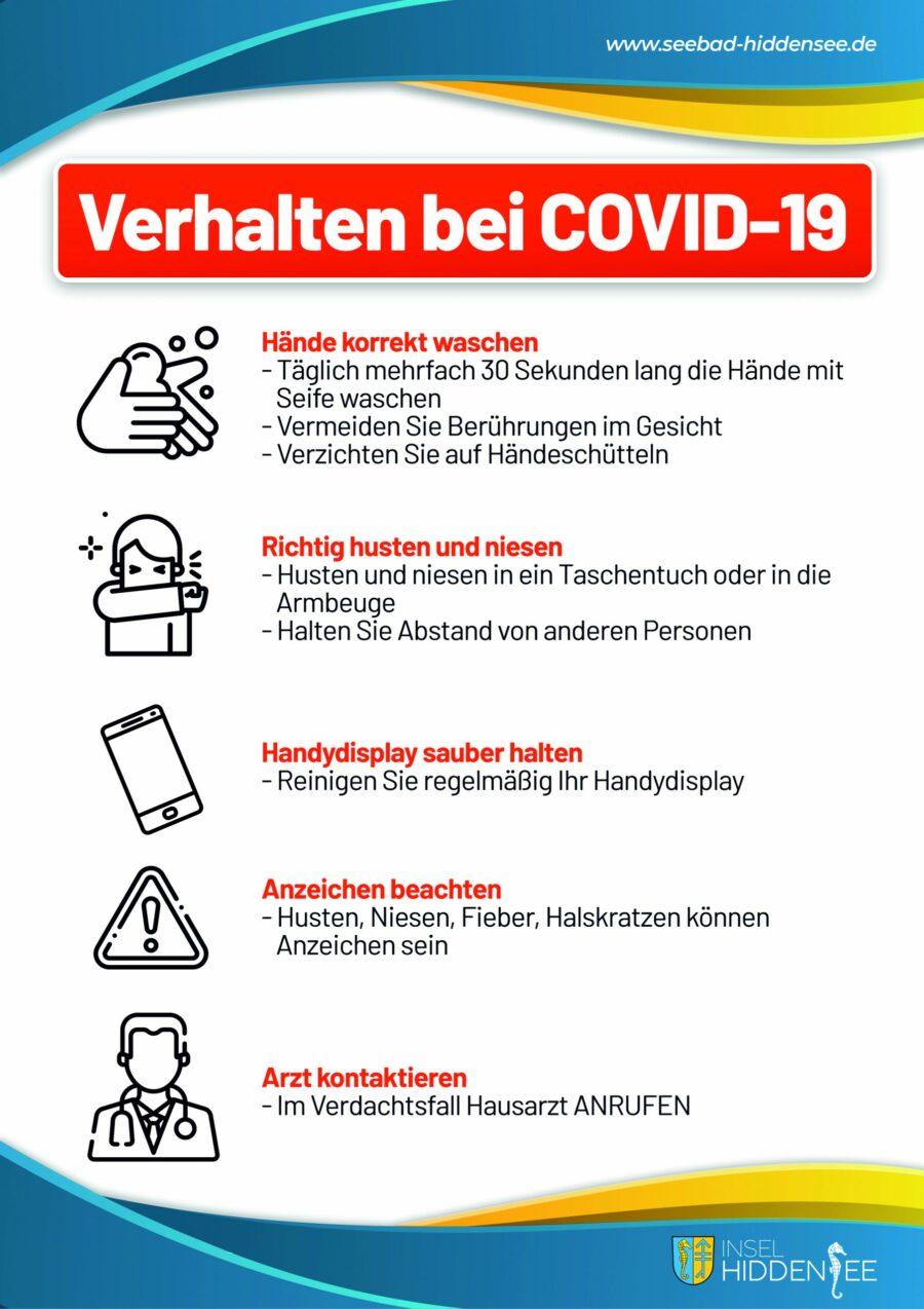 Verhalten bei Covid-19